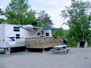 Cedar Pond Camground - Camper on the Landing