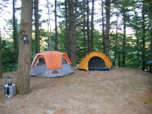 Cedar Pond Campground Tent Sites